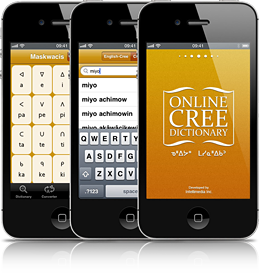 Online Cree Dictionary app screenshot
